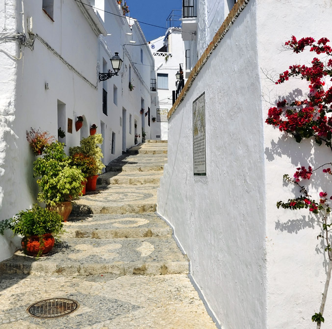 La route des villages blancs, Cadiz, Espagne