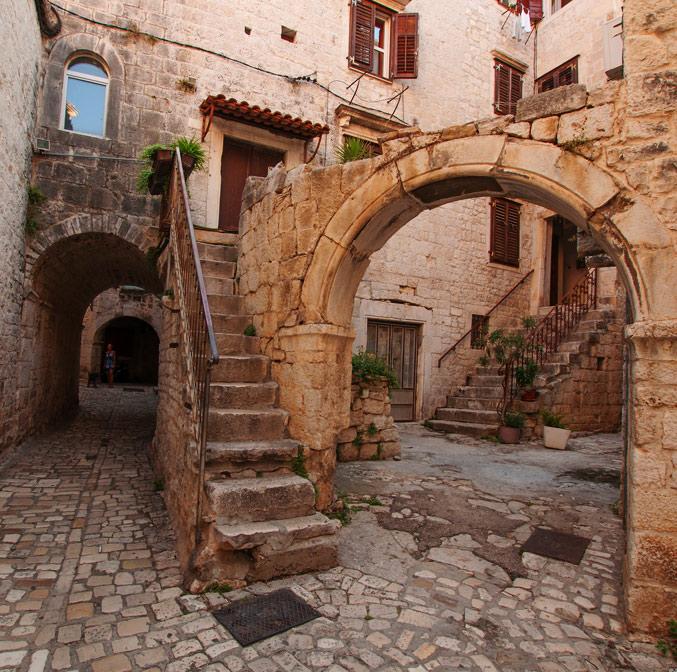 Dans les rues de Trogir, Croatie